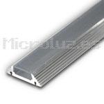 Perfil Trapezoidal tira 10mm aluminio difusor transparente 120º