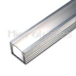 Perfil tira 10mm aluminio difusor transparente 90º