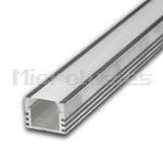Perfil tira 10mm aluminio difusoropal 90º