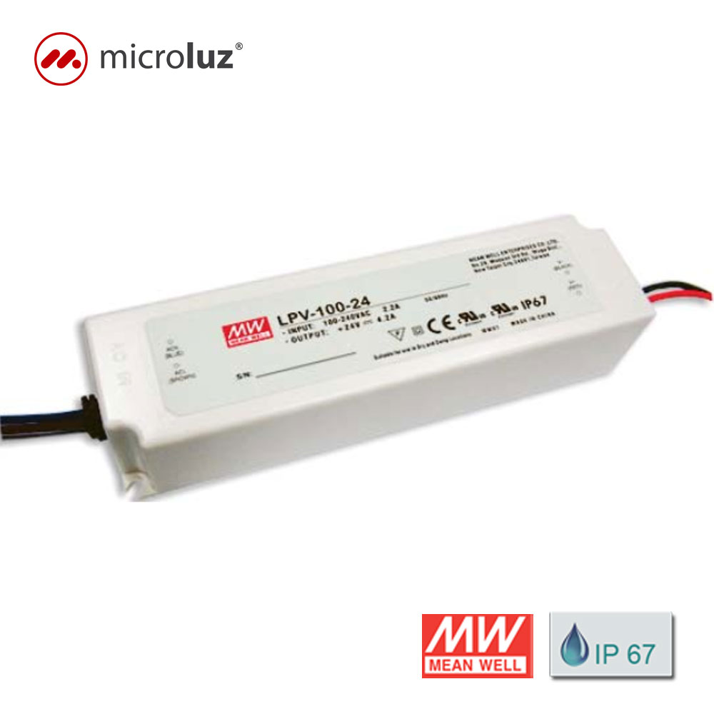 Fuente de Alimentación 24V 100W 4.2A IP 67 Mean Well