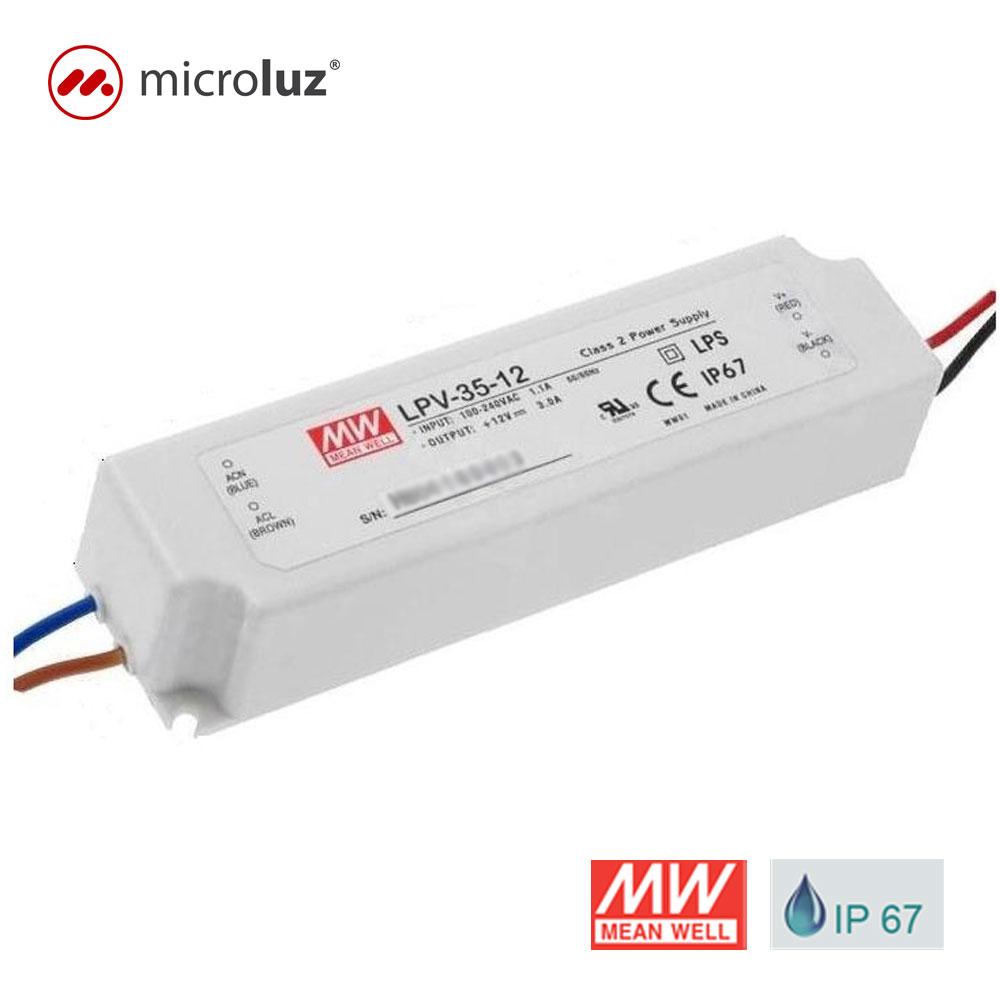 Fuente de alimentación impermeable 35W 12V