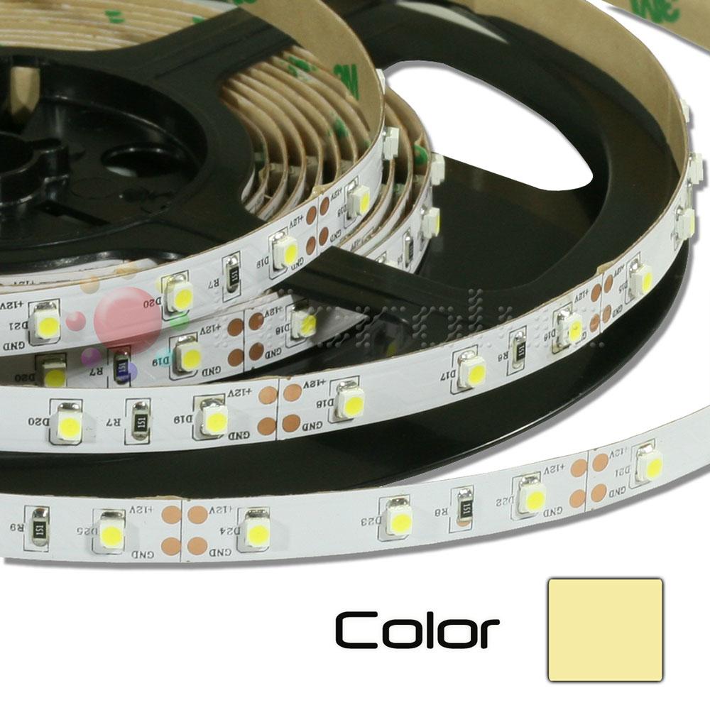 Tira de LEDs 5 metros 12V Autoadhesivo Blanco Calido