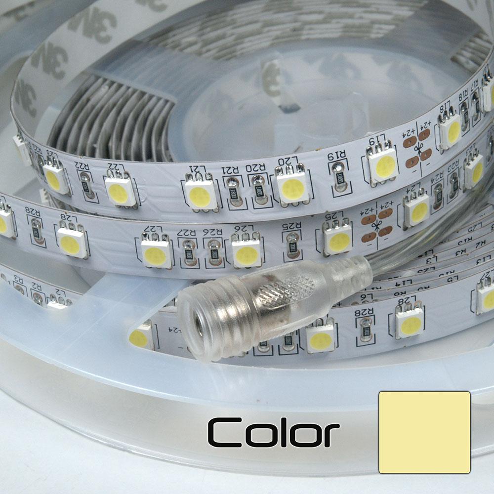 Tira LEDs 5M Triple Núcleo Doble Densidad Blanco Cálido