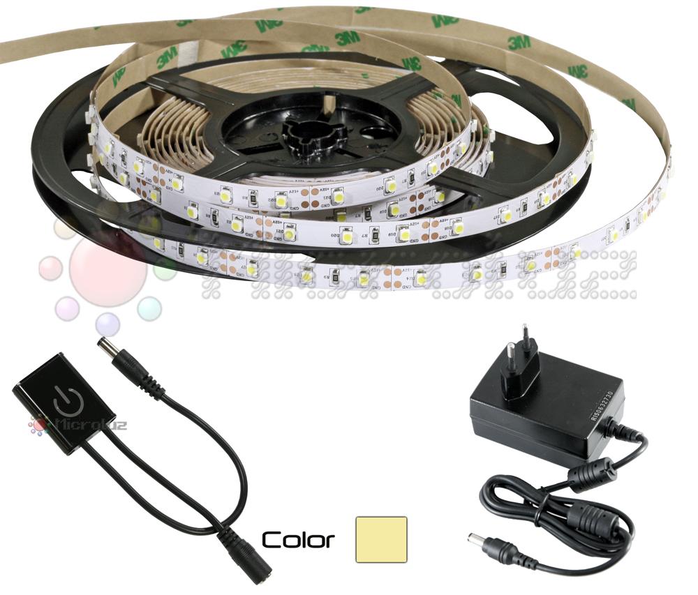 Tira LED Blanco Cálido 5 metros + Regulador
