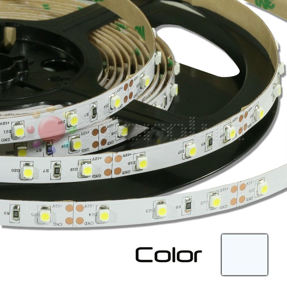 Tira de LEDs 5 metros 12V Autoadhesivo Blanco Puro