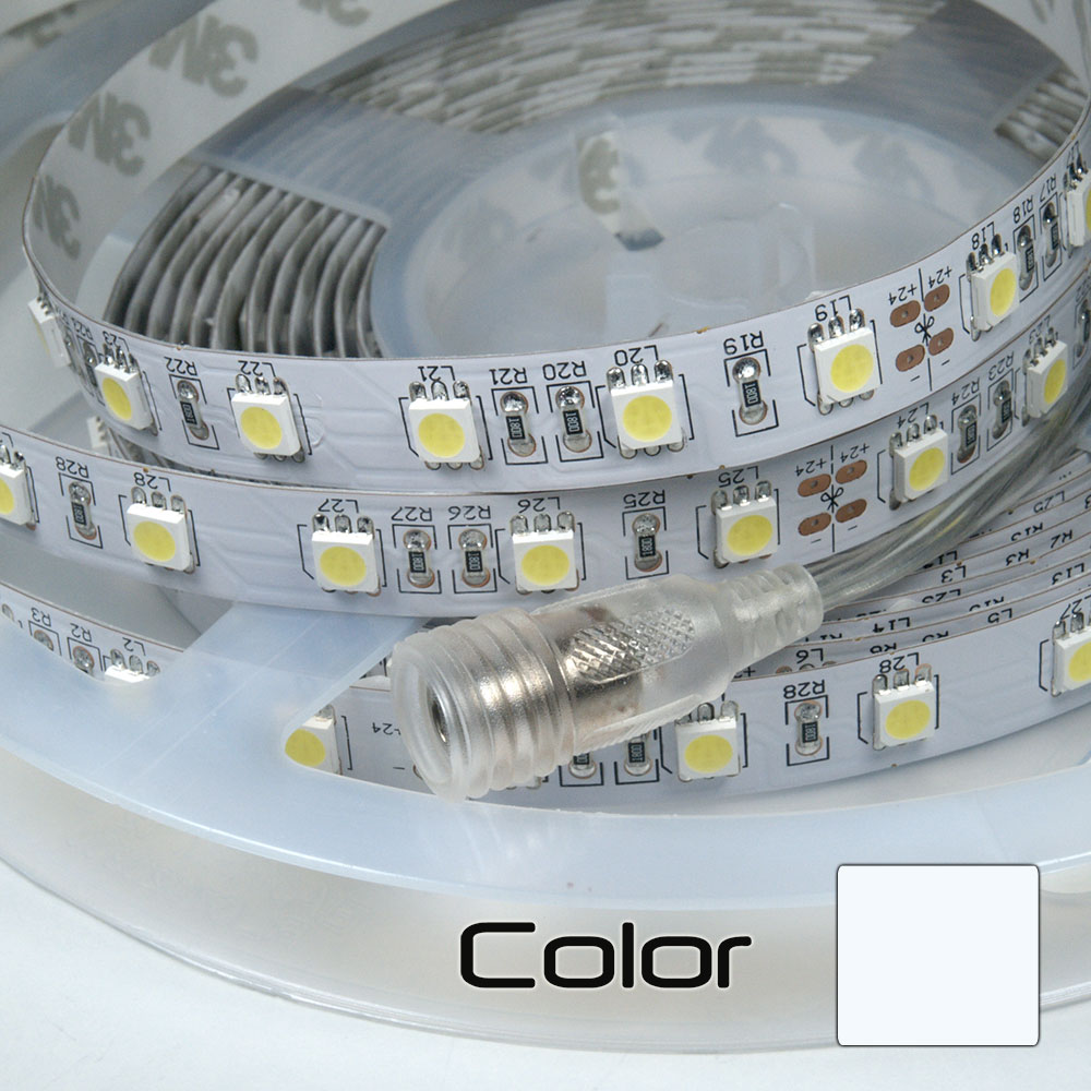 Tira LEDs 5M Triple Núcleo Doble Densidad Blanco Puro