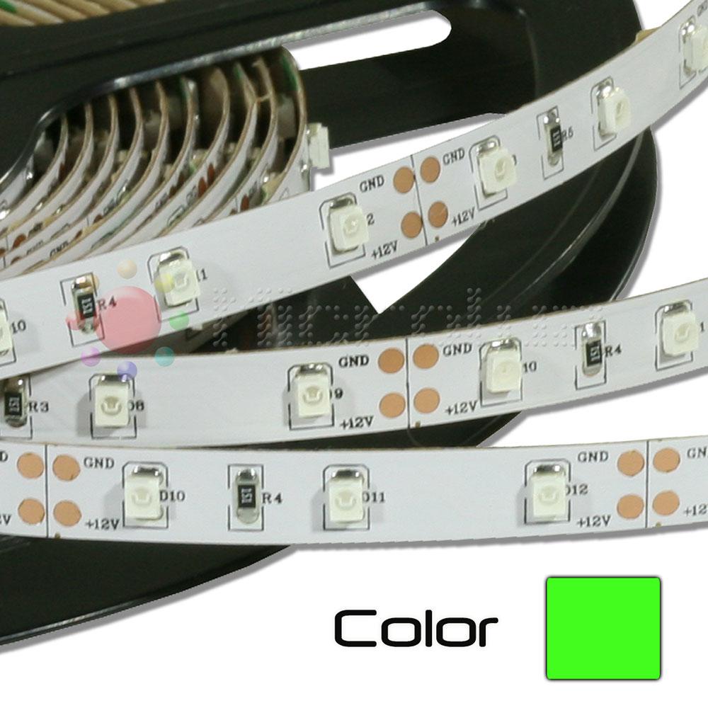 Tira de LEDs 5 metros  SMD 12V Autoadhesivo- Verde