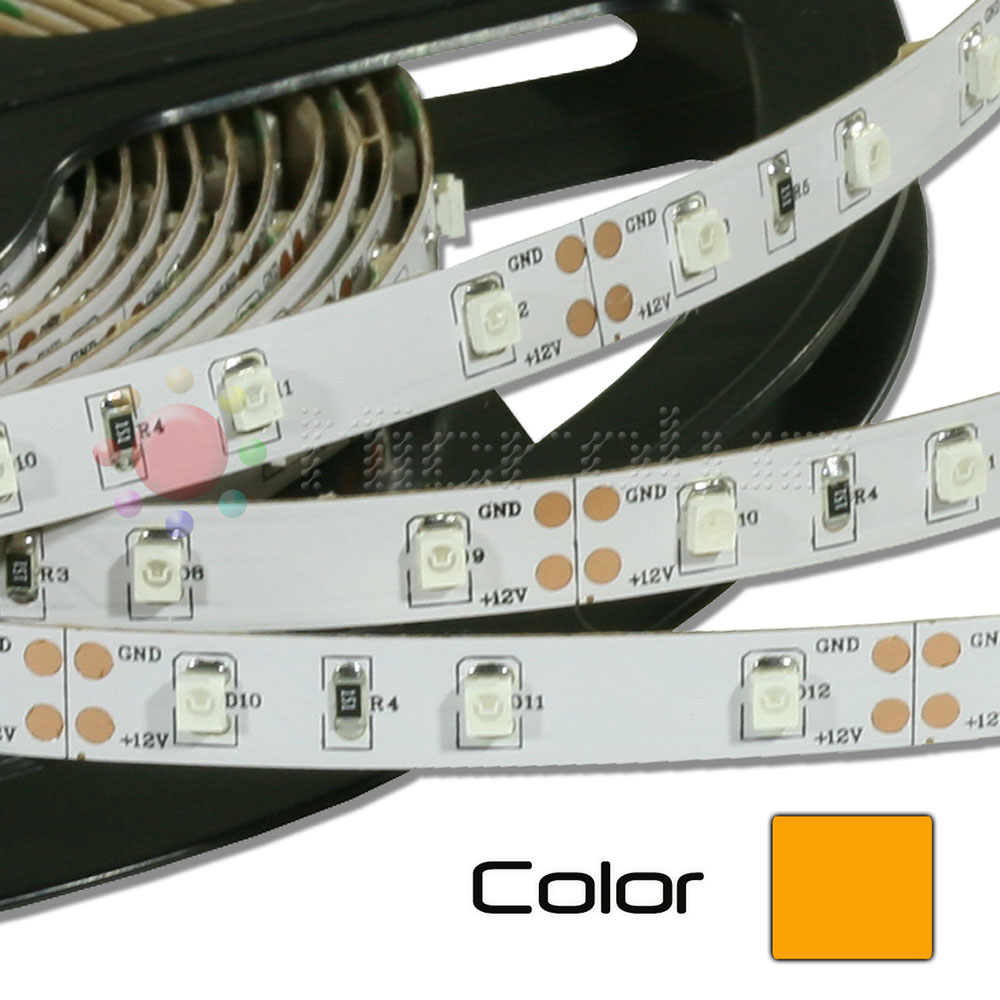 Tira de LED Flexible 5 metros SMD 12V Autoadhesivo - Ambar
