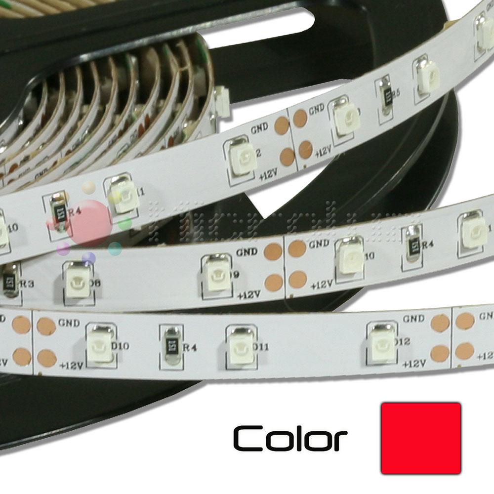 Tira de LEDs 5 metros  SMD 12V Autoadhesivo- Rojo