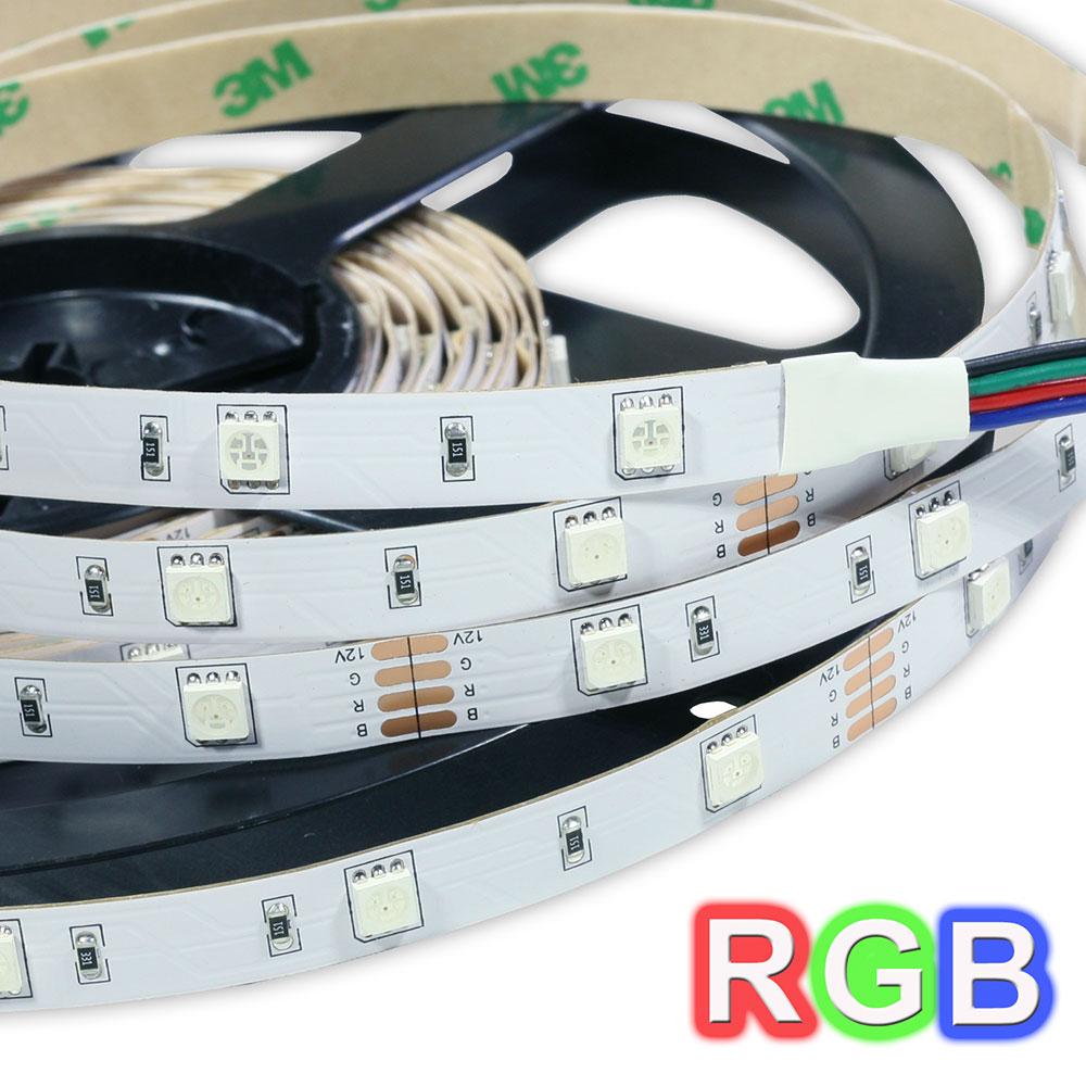 Tira de LEDs 5 metros  SMD 12V Autoadhesivo RGB