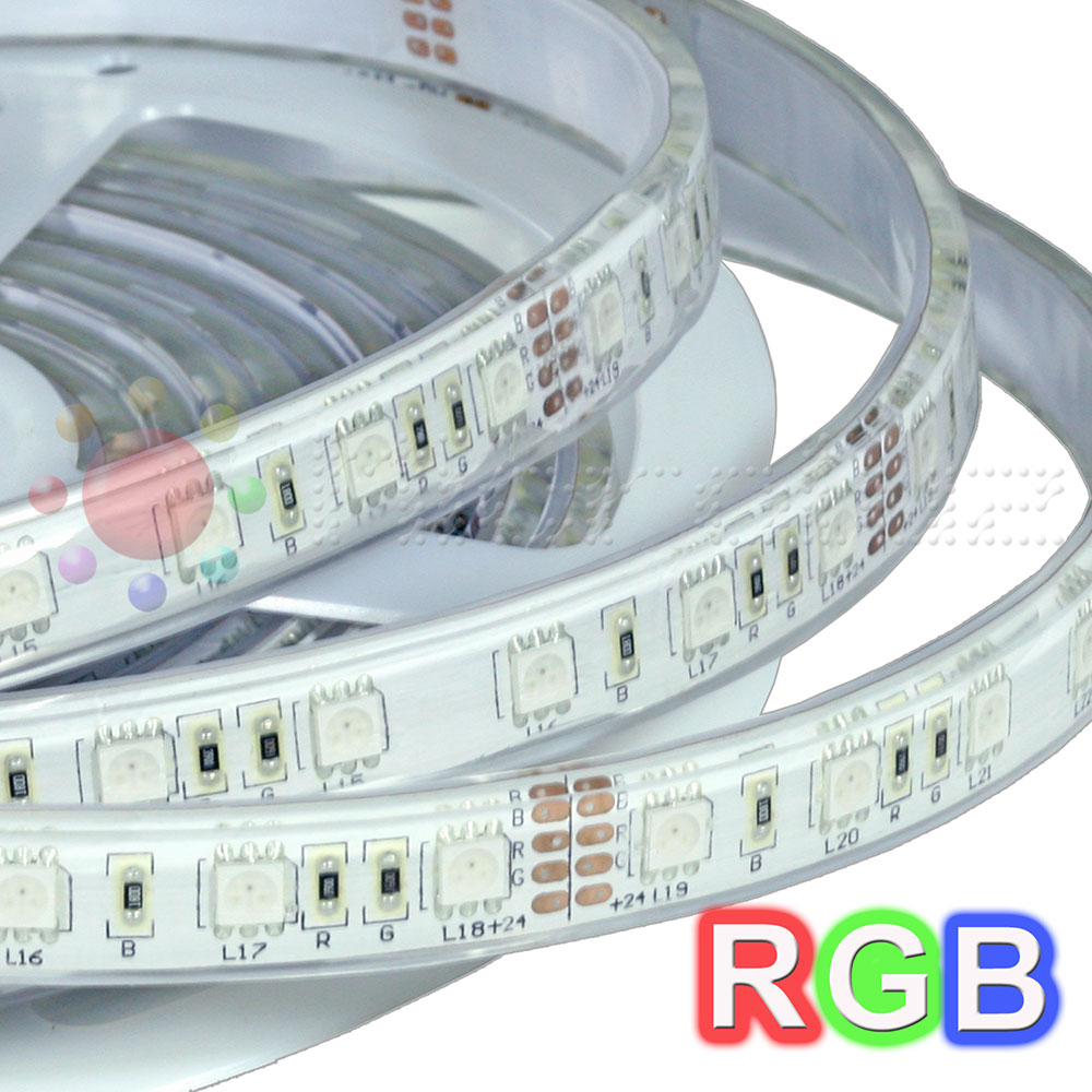 Tira de led Impermeable 5m RGB doble densidad