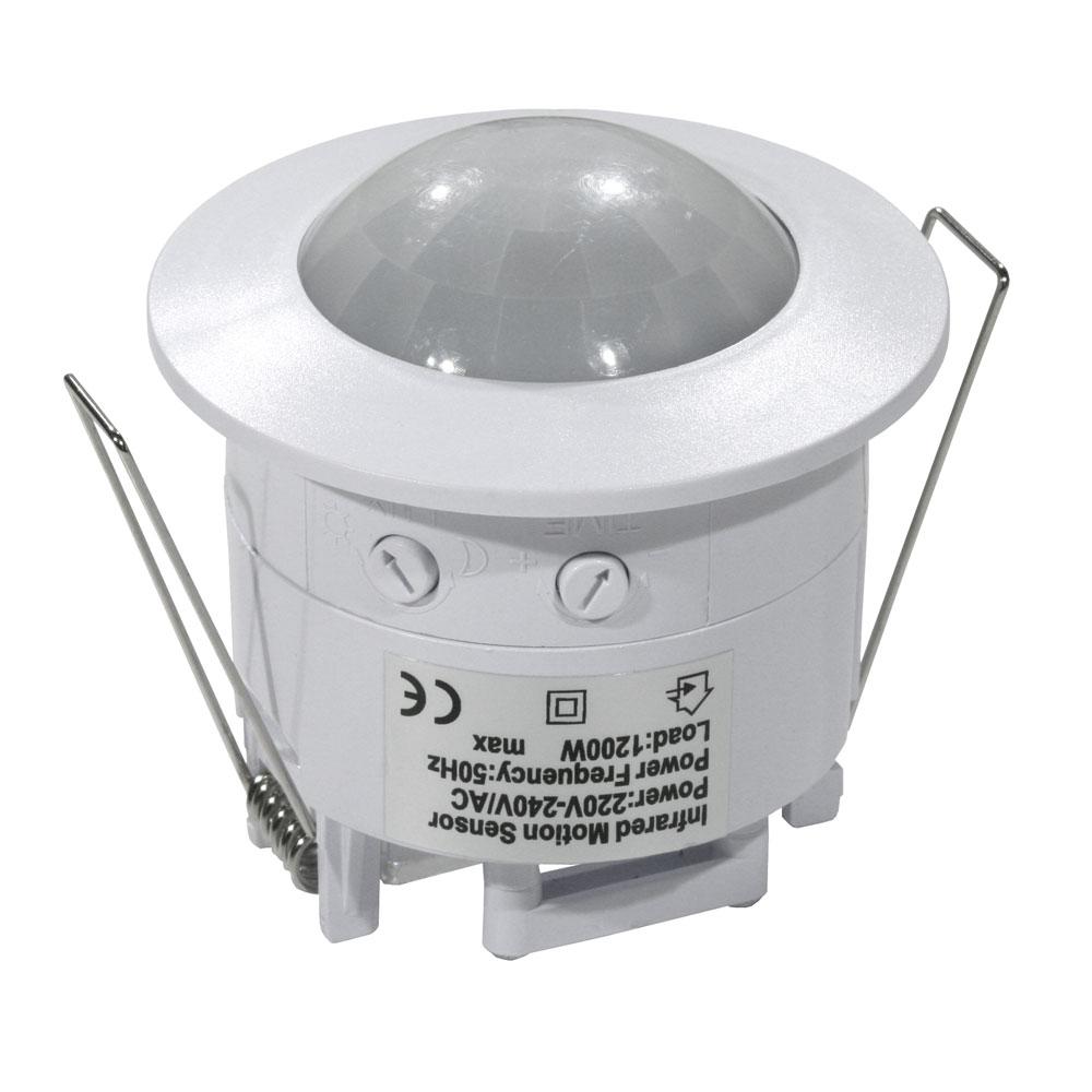 Detector empotrable de movimiento con célula fotoeléctrica