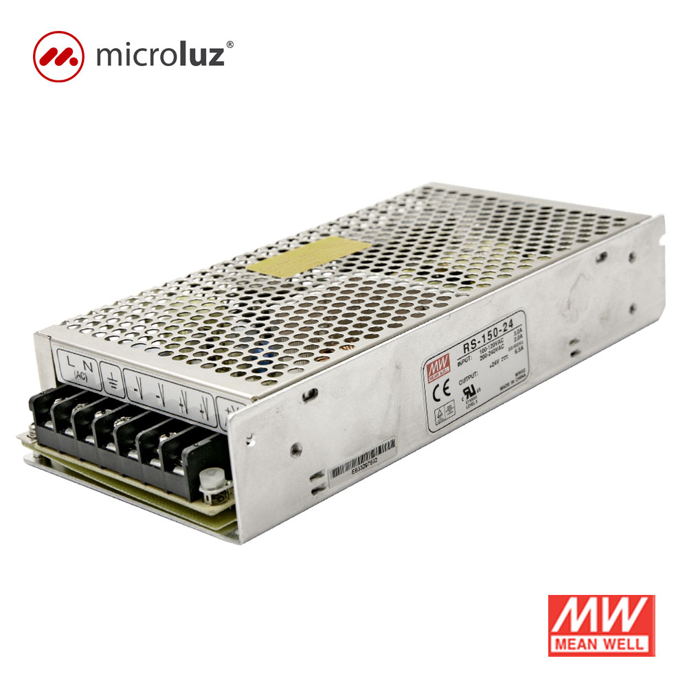 Fuente de Alimentación 24V 150W 6.5A IP 20 Mean Well
