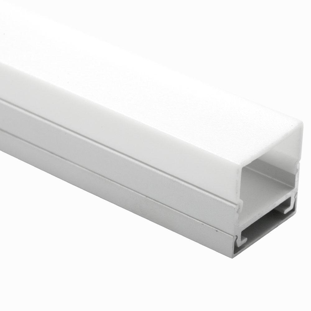 Perfil plano para difusor cuadrado de superficie 120º 20mm