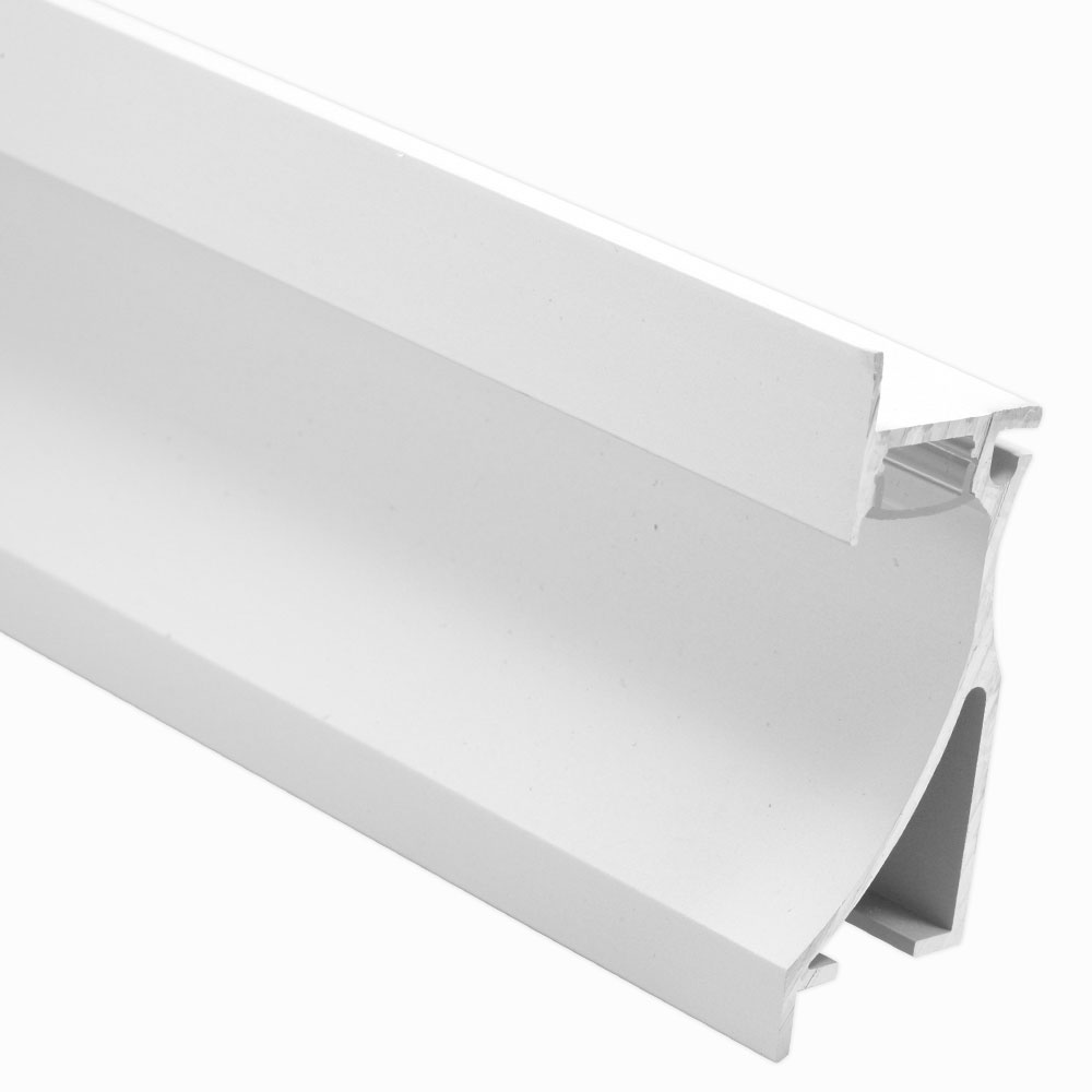Perfil de aluminio empotrable para pared