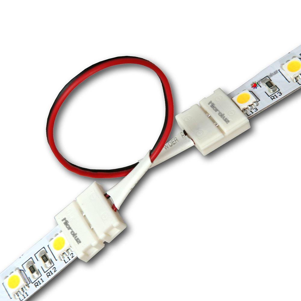 Conector+Cable Tira de LED Monocoromo 10mm