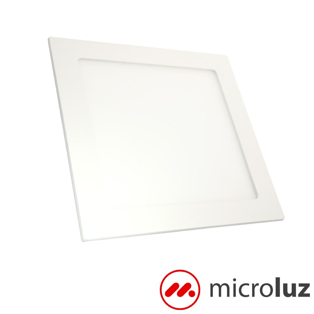 Downlight LED cuadrado empotrable blanco día 12W