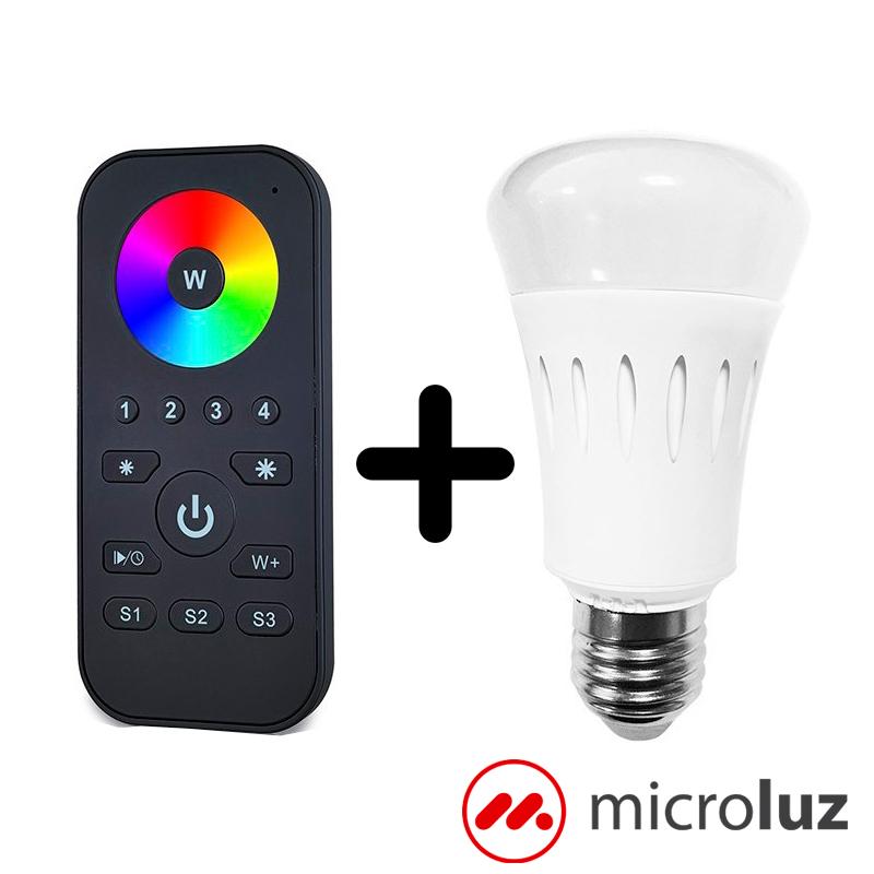 Bombilla LED de colores RGB controlable con mando incluido