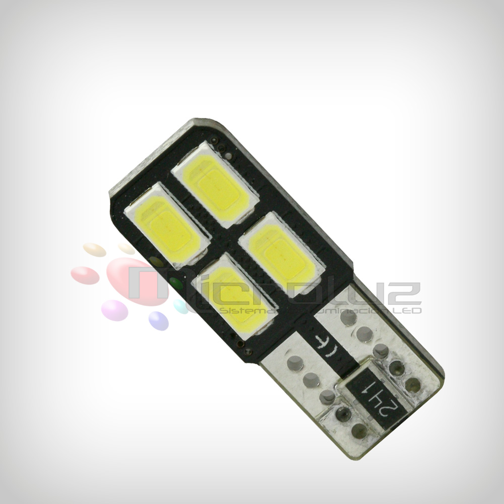 Bombilla 4 LED SMD 5730 one side 120º Blanco Xenon