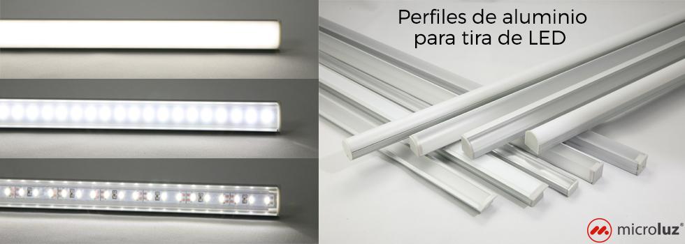 Perfiles de aluminio para tira de LED